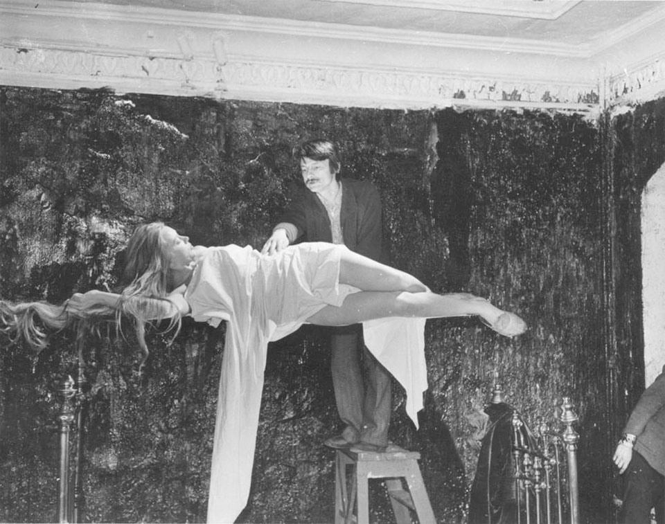 Tarkovsky filming a scene from MIRROR