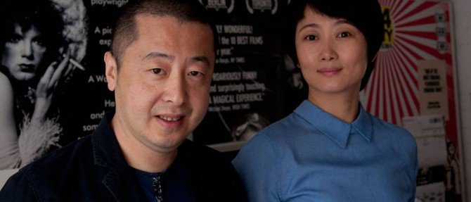 Jia Zhangke and Zhao Tao (photo by Darren Hughes)