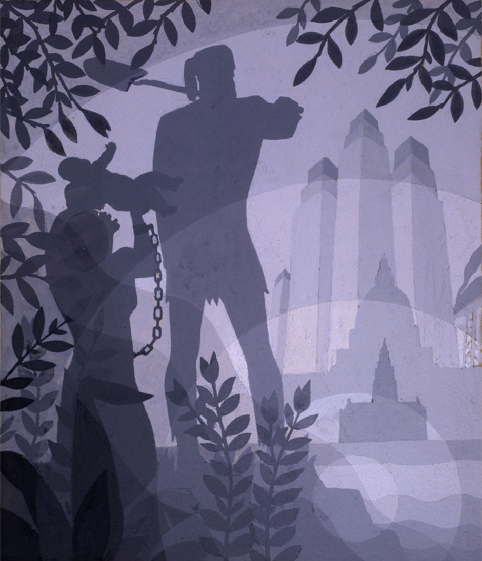 Founding of Chicago (Aaron Douglas, 1933)