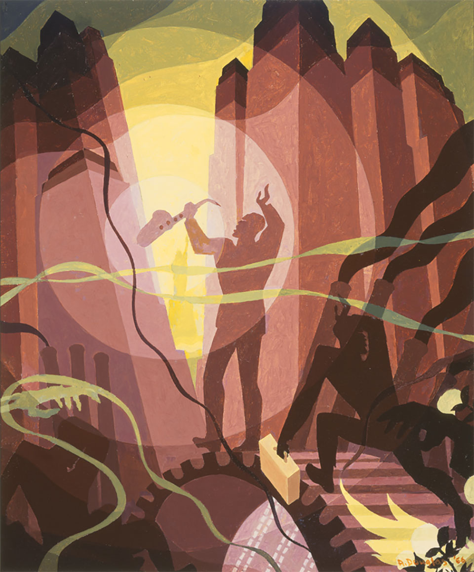 Song of the Towers: Wisconsin Edition (Aaron Douglas, 1966)